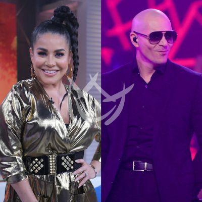 La Venenosa Sandoval recibe ánimos de Pitbull