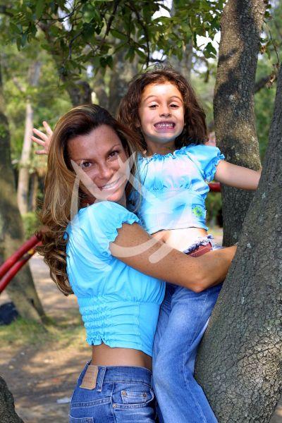 Mariana y su hija Shamadhi