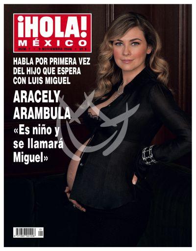 Aracely embarazada en ¡Hola!