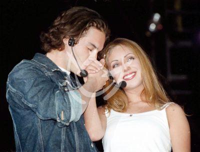 Anahí y Kuno en 2001