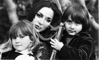 Paulina Rubio con mamá y hermano