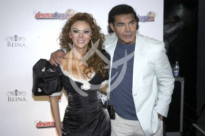 Jaime Moreno y su novia
