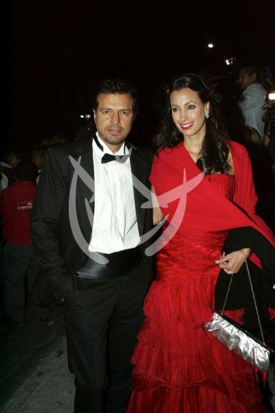 Agustín Arana y esposa