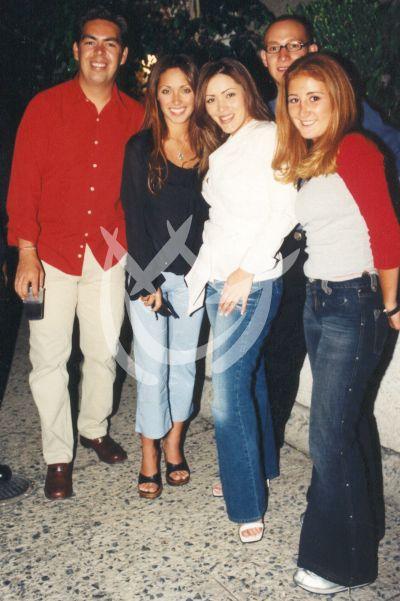 Anahí con Marichelo y Jorge, 2002