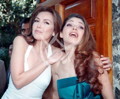 Thalía e Itatí en el 2001