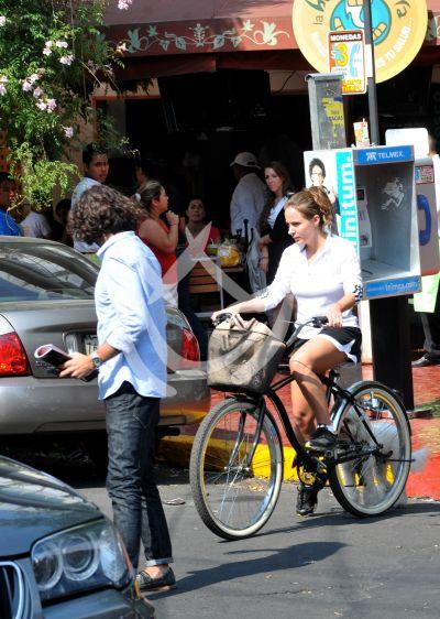 Chema, su perro y la bici