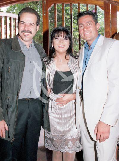 César Evora, Victoria Ruffo y Fernando Colunga