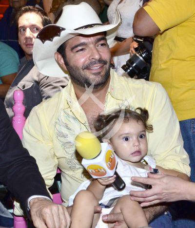 Pablo Montero e hija
