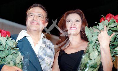 Lucía y Gonzalo Vega, 2000