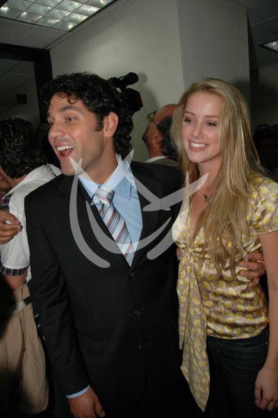 Valentino Lanús y Amber Heard 2007