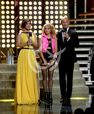 Paulina con Chiqui y Javier