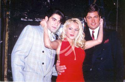 Paulina Rubio con Charly Masó y Fernando Colunga
