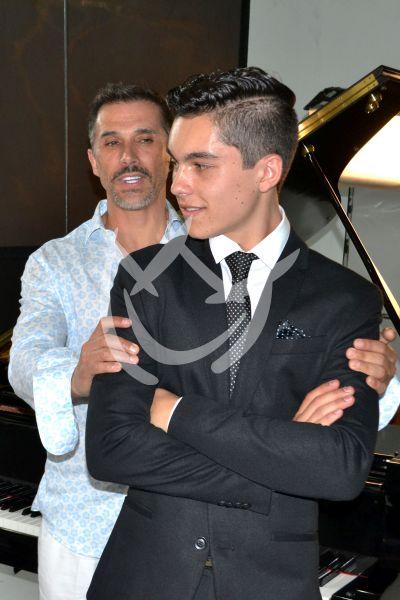 Sergio y Sergio Mayer Mori con Green Eyes