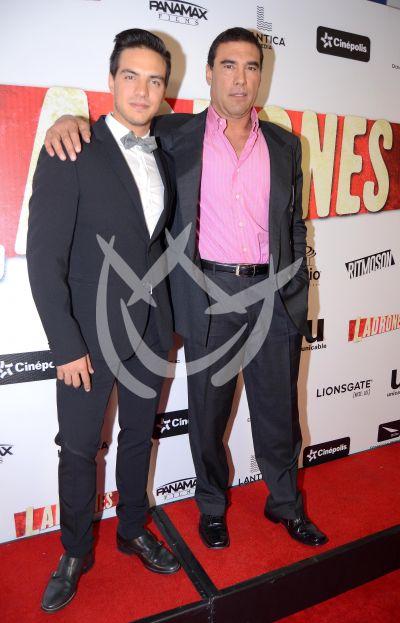 Vadhir y Eduardo Yáñez con Ladrones