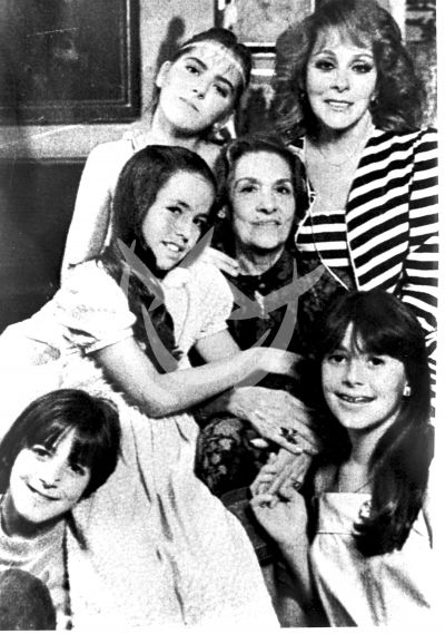 Silvia Pinal e hijas 1980