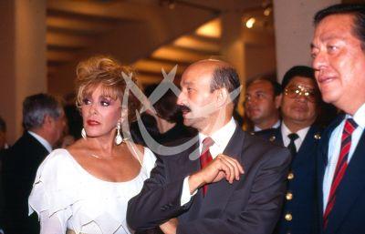 Silvia Pinal y Carlos Salinas de Gortari