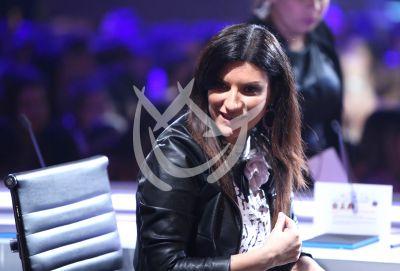 Laura Pausini pone el ambiente en La Banda