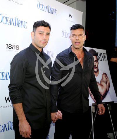 Ricky Martin y su novio Jwan Yosef en gala por Puerto Rico