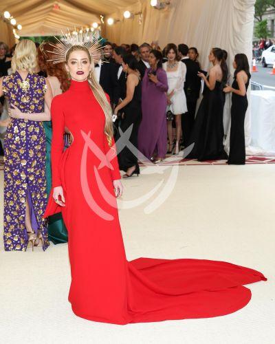 Amber Heard en Met Gala