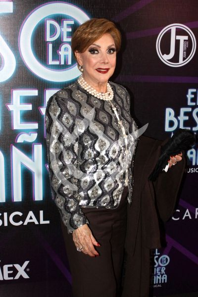 Jacqueline Andere con la Mujer Araña