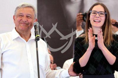 Belinda apoya a López Obrador en Cuernavaca