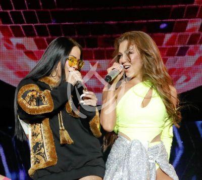Thalía y Natti Natasha cantan entre Las que Mandan