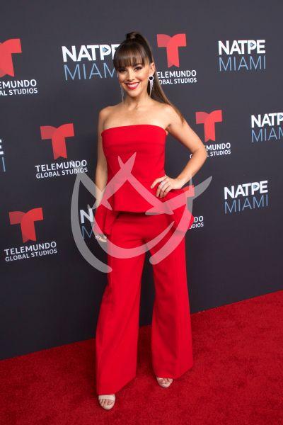 María Elisa Camargo en Natpe 2019