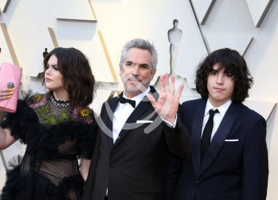 Alfonso Cuarón e hijos en los Oscars