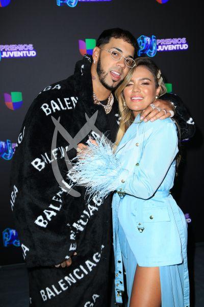 Anuel AA y Karol G en PJ 2019