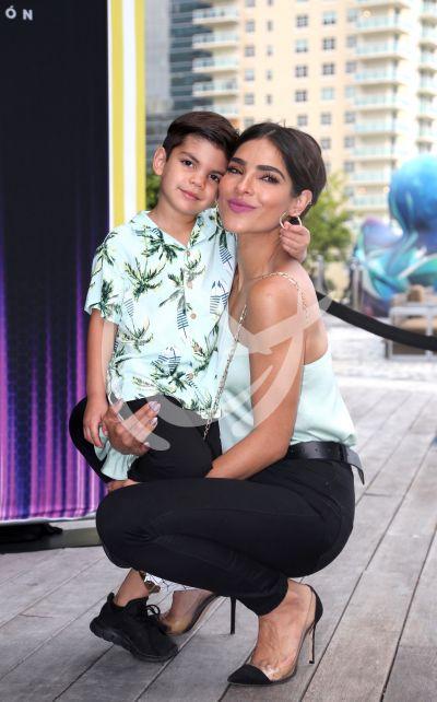 Alejandra Espinoza e hijo Matteo ¡modelo!