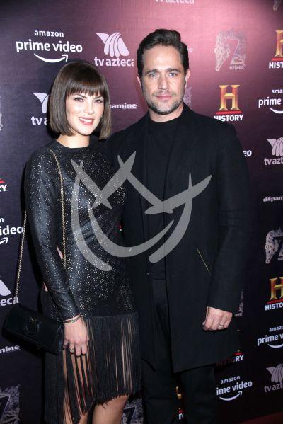 Michel Brown con esposa y más con Hernán