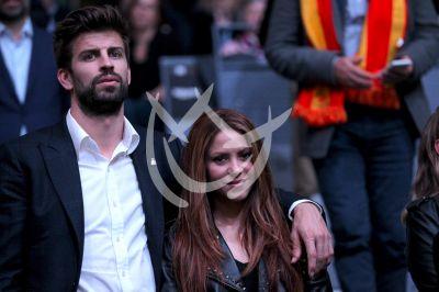Shakira y Gerard Piqué en la Copa Davis