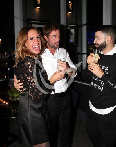 Lili Estefan y Jomari Goyso con William Levy