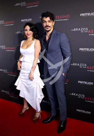 Shalim Ortiz y novia Thanya López