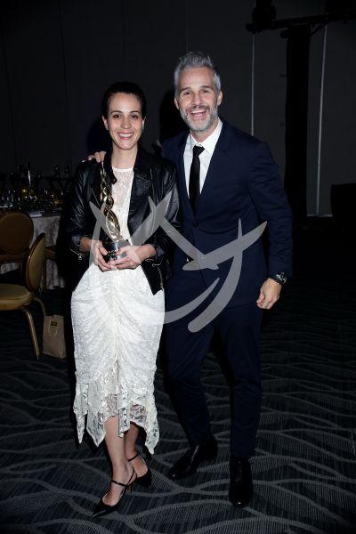 Cassandra y Juan Pablo en los Premios Canacine