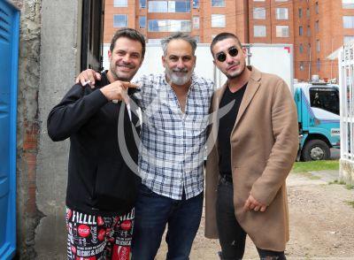 Julio Bracho, Mark Tacher y Emmanuel Orenday