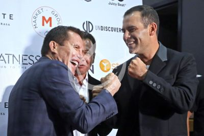 Julio César Chávez y Rafa Márquez hacen box en el gym