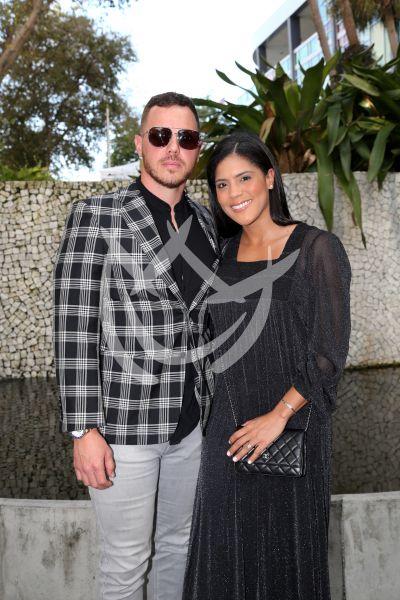 Francisca Lachapel y novio