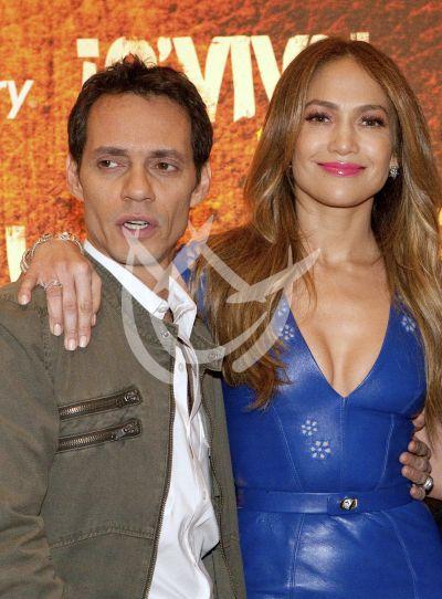 Jennifer Lopez y Marc Anthony 2012