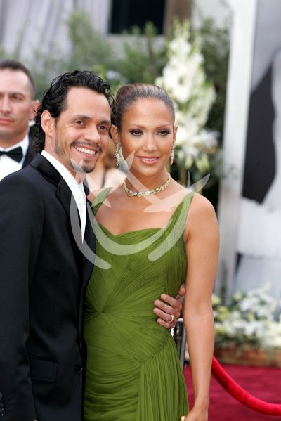 Marc Anthony y Jennifer Lopez en Oscars 2006