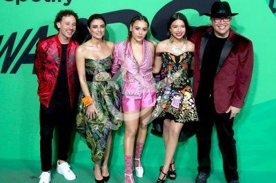 Aislinn, Luisito, Danna, Ángela y Franco en Premios Spotify