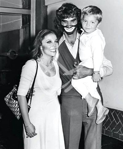 Verónica Castro con Christian y Cepillín