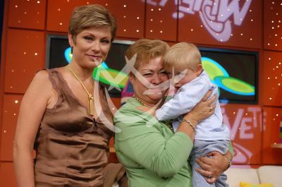Lety Calderón con mamá e hijo Luciano