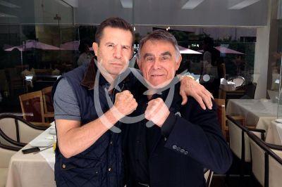 Julio César Chávez y Héctor Suárez
