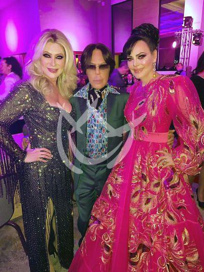 Alfredo Palacios con Felicia Mercado y Maribel Guardia