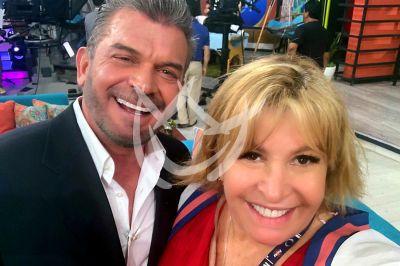 Magda Rodíguez y Sergio Basañez