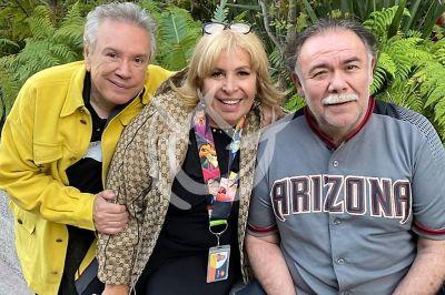 Magda Rodíguez con Rubén y Jesús