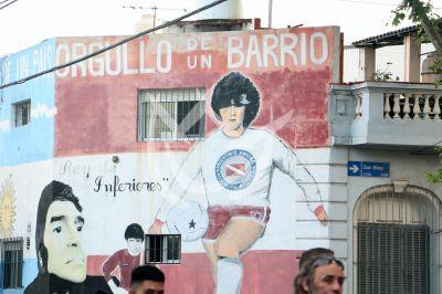 Maradona en La Paternal