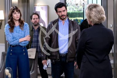 Andrés, Lety y Susana al final de Imperio de Mentiras