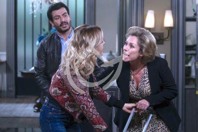 Angelique, Andrés y Lety al final de Imperio de Mentiras
